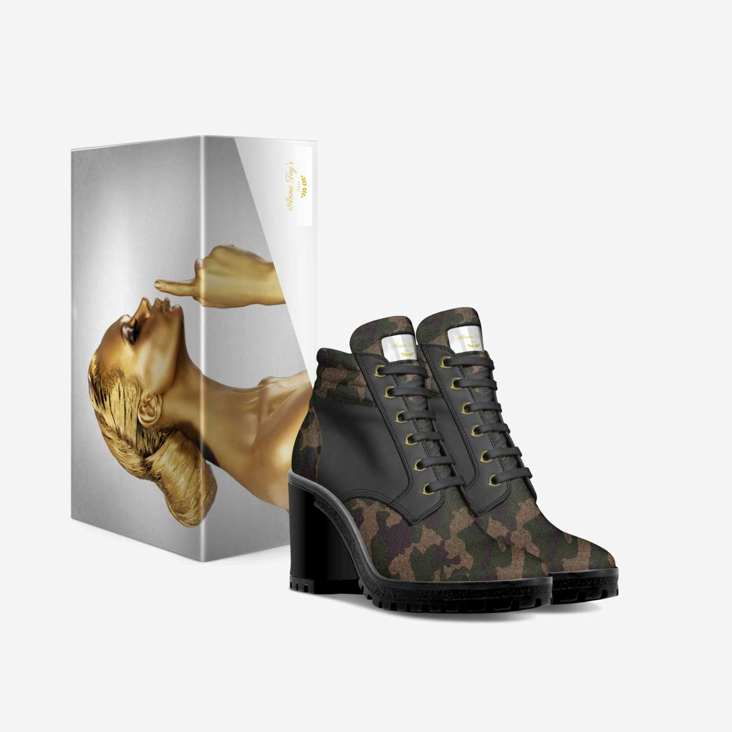 Anna Tay's custom made in Italy shoes by Quinteze Vetaw | Box view